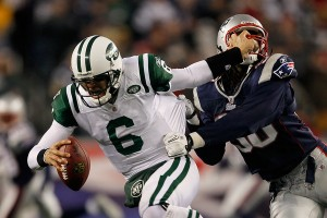 New York Jets vs. New England Patriots (Photo by Jim Rogash/Getty Images)