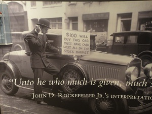 Rockefeller Quote. Photo attribution: Fanny Littmarck