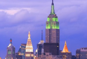 empire-state-building lit up green